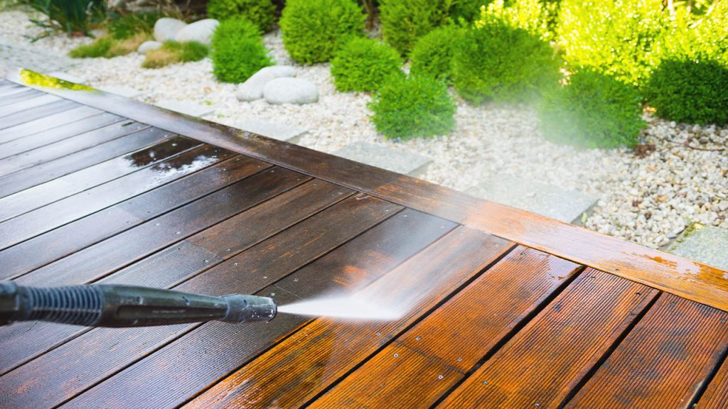 Clean the Deck before staining