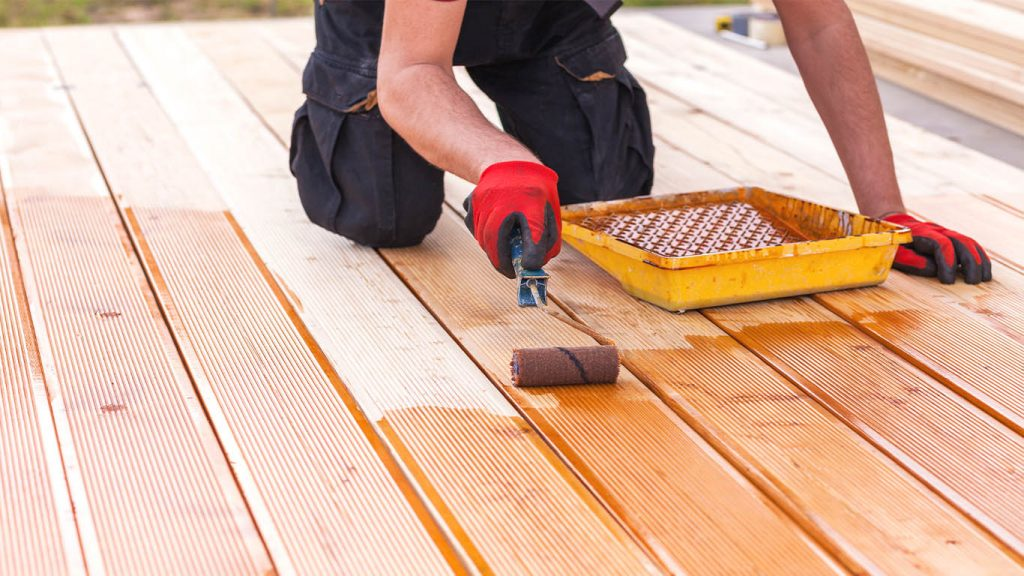 Stain a Deck with Paint Roller