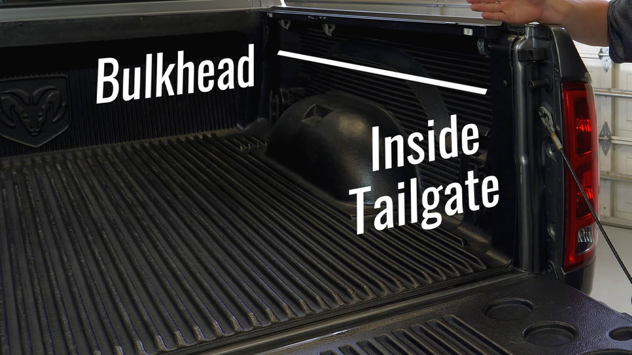 bulkhead and tailgate of truck