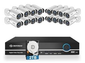 DEFEWAY H.265+ 16 Channel Security Camera System