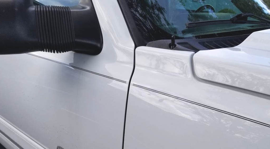 short antenna installed on silverado