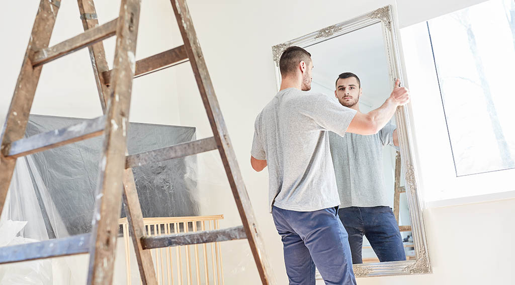 Hanging a Heavy Mirror Without Hooks